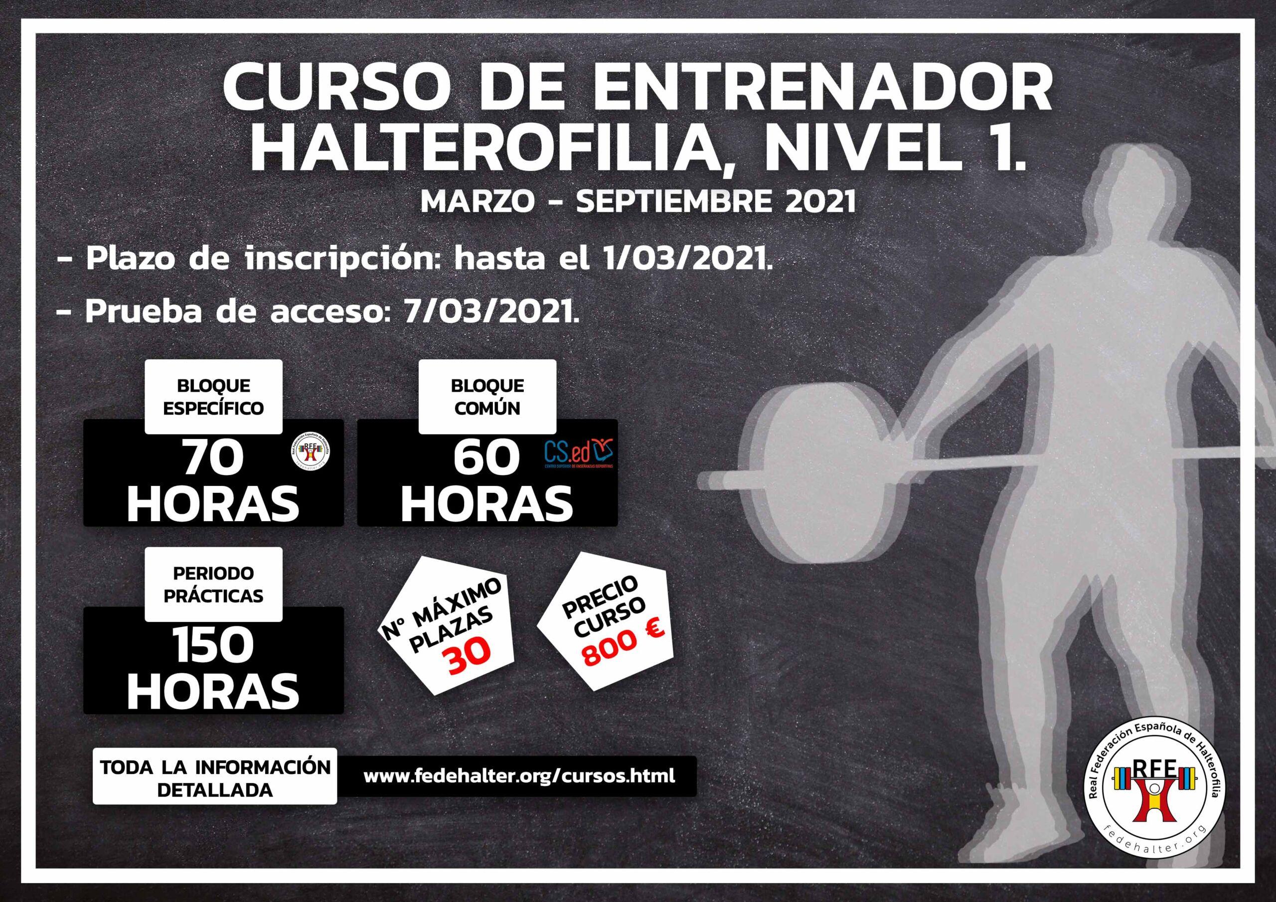 Curso Entrenador de Halterofilia Nivel 1