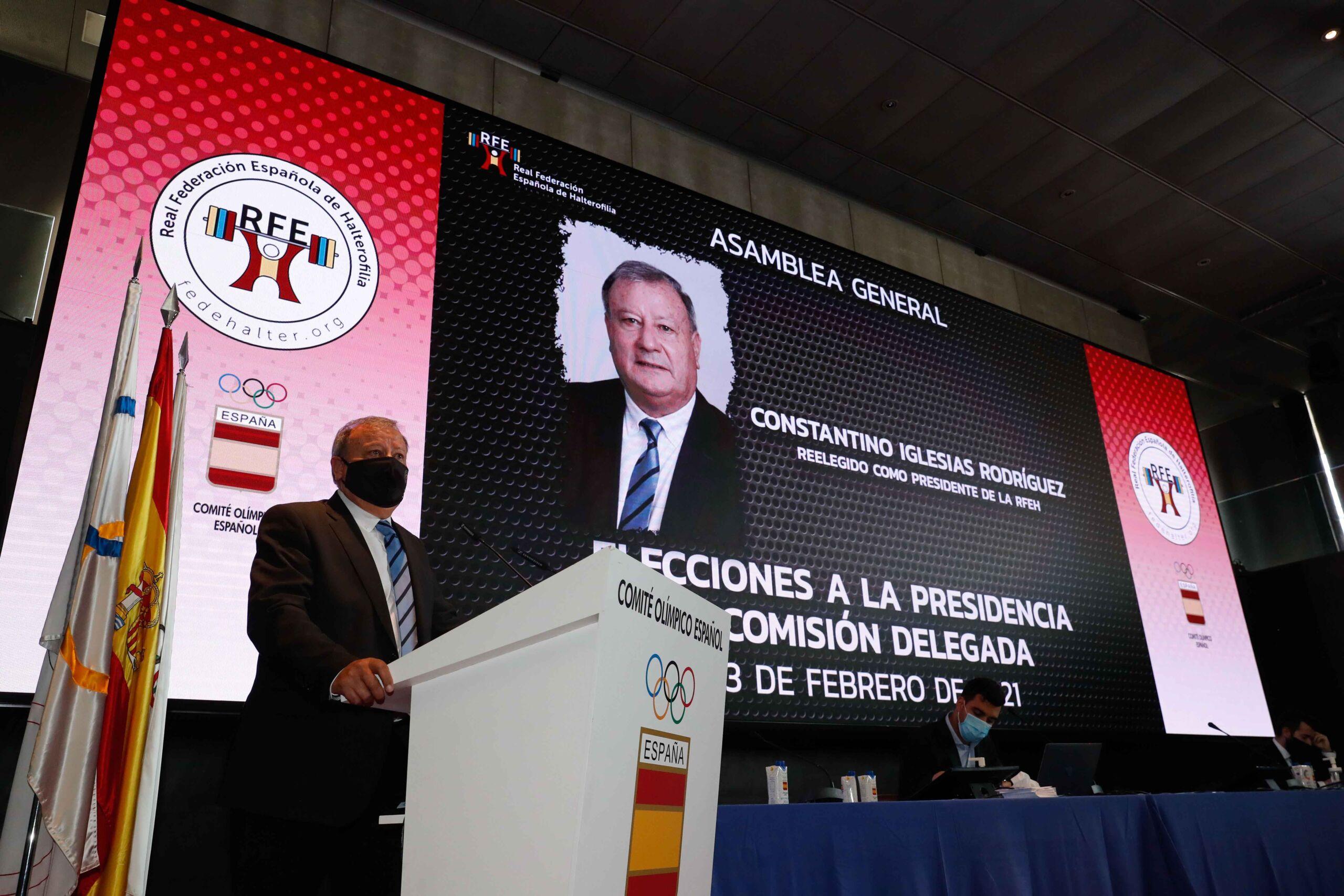 Constantino Iglesias, reelegido Presidente de la RFEH