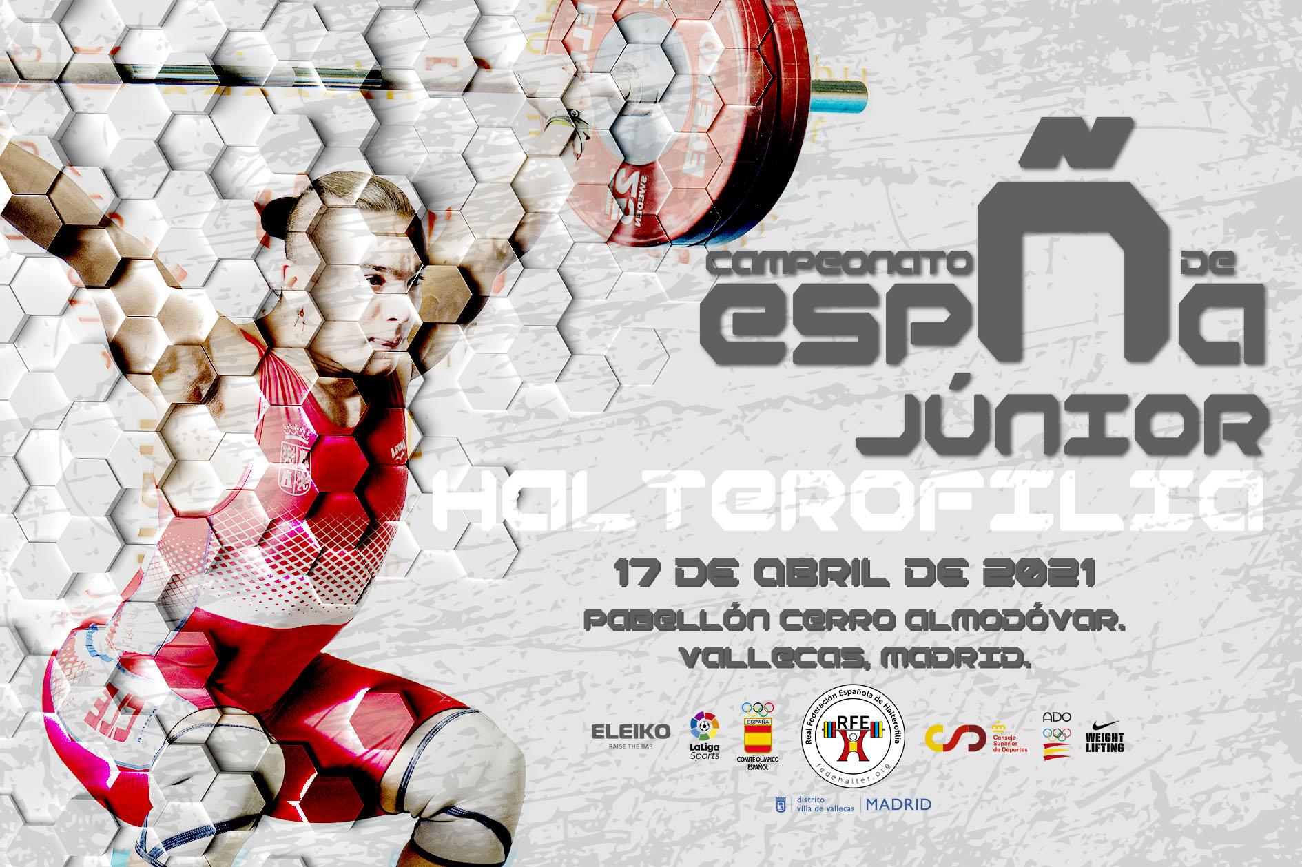 El Pabellón Municipal Cerro Almodóvar, Vallecas, Madrid, será la sede del Campeonato de España Júnior 2021.