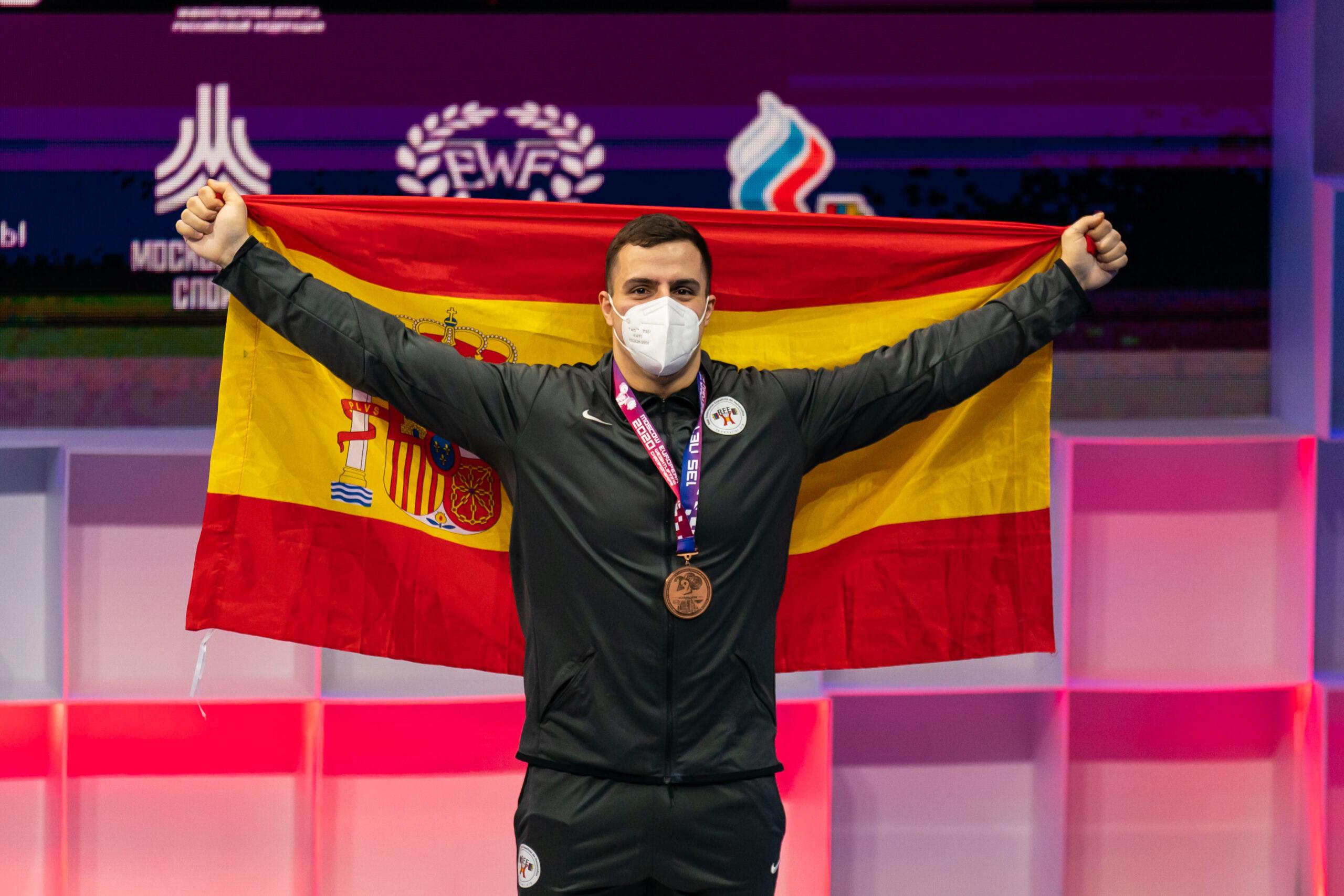 Marcos Ruiz cierra la participación española en los Europeos de Moscú con una medalla de bronce en dos tiempos.