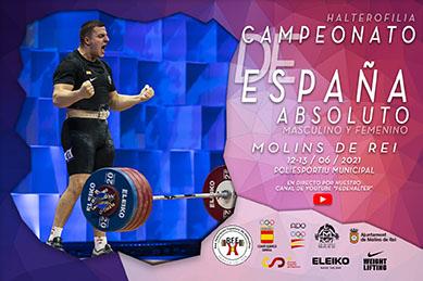 Campeonato de España Absoluto, Molins de Rei 2021